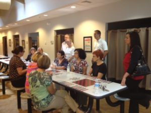 Corpus Christi Metro Ministries Tuesday Tours table